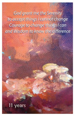 11 year card - Serenity Prayer