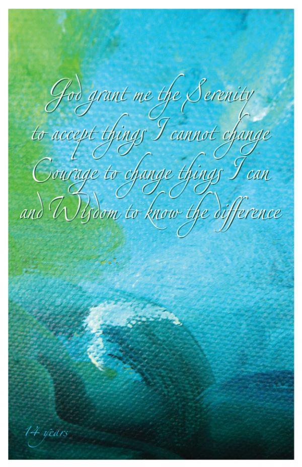 14 year card - Serenity Prayer
