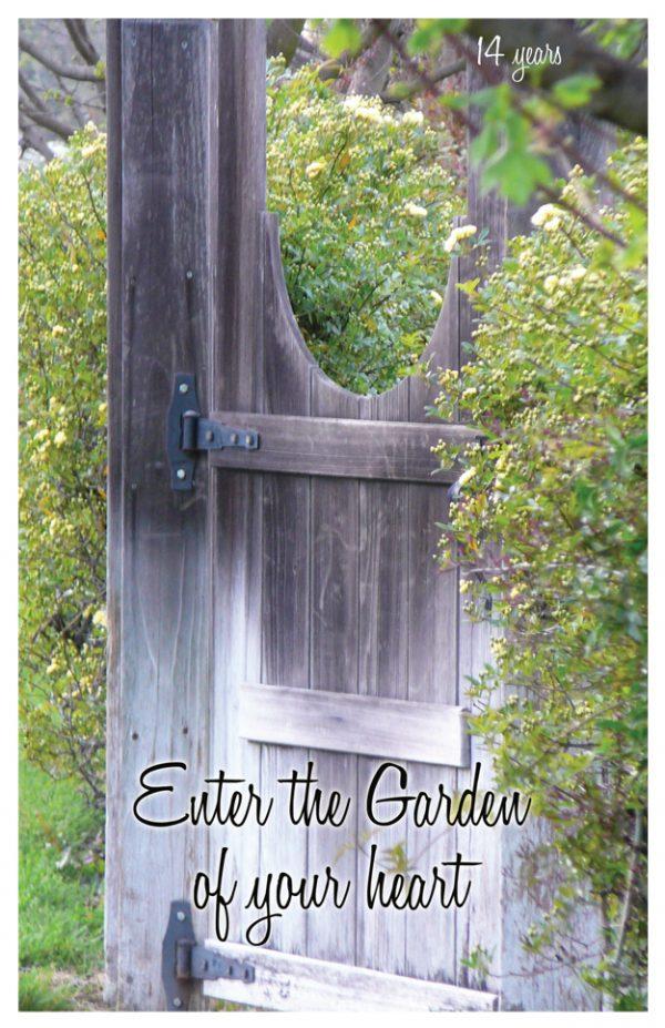 14 year card - Enter the Garden of your heart