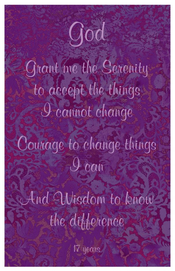 17 year card - Serenity Prayer