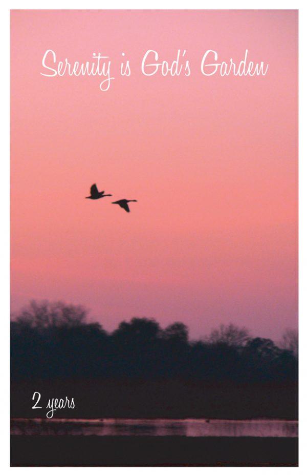 2 years card - Serenity is Gods Garden