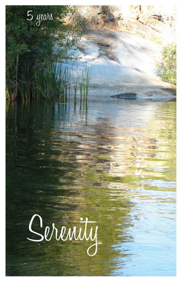 5 year card - Serenity