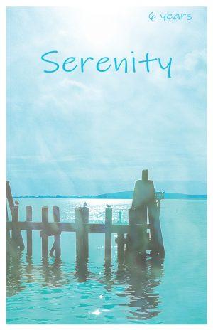 6 year card - Serenity